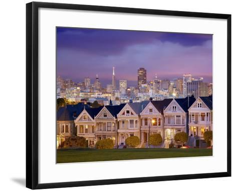 Alamo Square and the Victorian Style Painted Ladies Homes, San Francisco, California, USA-Patrick Smith-Framed Art Print