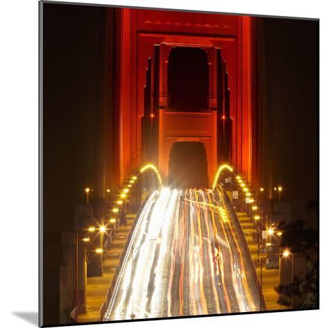 Nightime Traffic on the Golden Gate Bridge, San Francisco, California, USA-Patrick Smith-Mounted Photographic Print