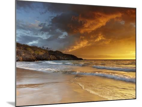 Sunset at Hapuna Beach, Big Island Volcanic Gases and Fog, Called Vog, Can Create Dramatic Sunsets-Patrick Smith-Mounted Photographic Print
