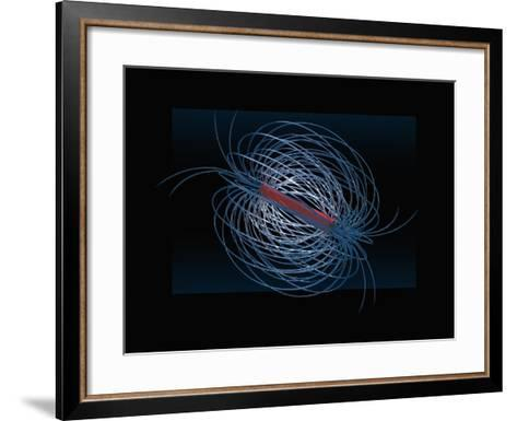 Three Dimensional Visualization of the Magnetic Field of a Bar Magnet-Carol & Mike Werner-Framed Art Print