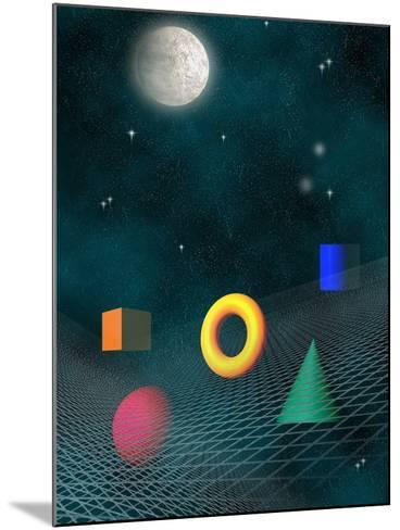 Space Background with Geometric Shapes-Carol & Mike Werner-Mounted Photographic Print