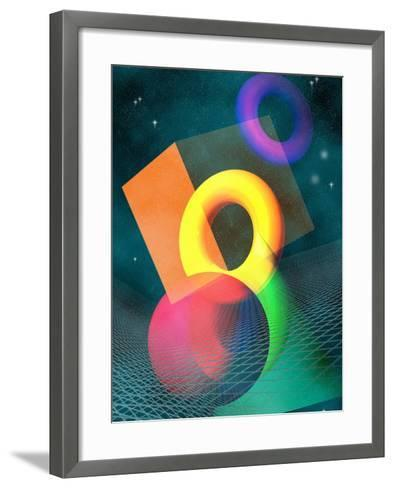 Geometric Solids in Space-Carol & Mike Werner-Framed Art Print
