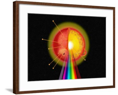 Painting of Various Features of the Sun-Carol & Mike Werner-Framed Art Print