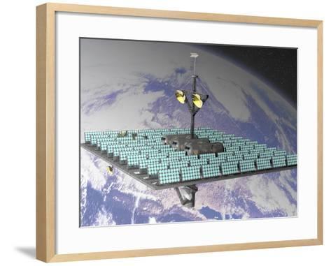 Artist's Concept of an Orbiting Solar Power Station-Carol & Mike Werner-Framed Art Print