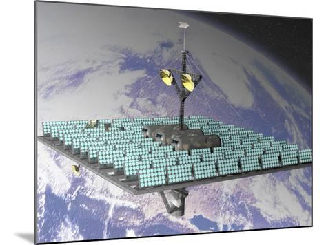 Artist's Concept of an Orbiting Solar Power Station-Carol & Mike Werner-Mounted Photographic Print