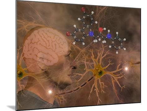 Illustration of P7C3 and Alzheimer's Disease-Carol & Mike Werner-Mounted Photographic Print