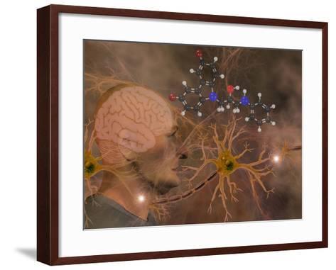 Illustration of P7C3 and Alzheimer's Disease-Carol & Mike Werner-Framed Art Print