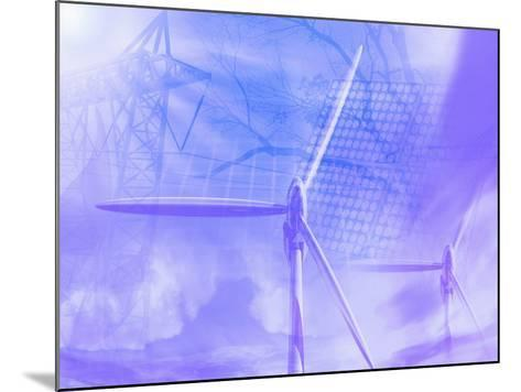 Illustration of Alternative Energy Sources-Carol & Mike Werner-Mounted Photographic Print