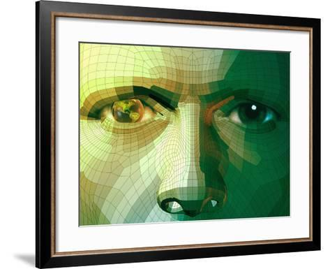 Man and Global Technology-Carol & Mike Werner-Framed Art Print