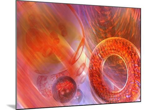 Mathematics Abstract with Movement in Time and Space-Carol & Mike Werner-Mounted Photographic Print