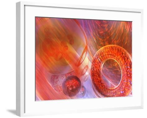 Mathematics Abstract with Movement in Time and Space-Carol & Mike Werner-Framed Art Print