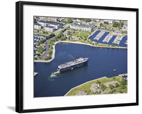 Lake Michigan Car Ferry in Ludington Harbor, USA-Jeffrey Wickett-Framed Art Print