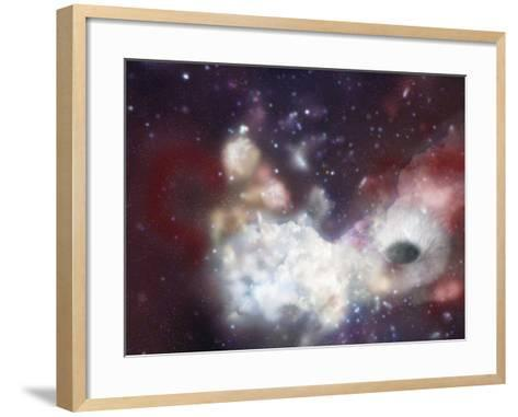 Sagittarius A, an Artist's Concept of a Black Hole at the Center of the Milky Way Galaxy-Carol & Mike Werner-Framed Art Print