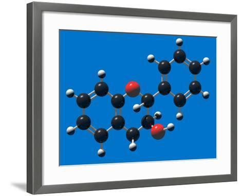 Flavan-3-Ol (Flavanol) Molecular Model Flavanols are Building Blocks for Proanthocyanidins-Carol & Mike Werner-Framed Art Print