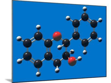 Flavan-3-Ol (Flavanol) Molecular Model Flavanols are Building Blocks for Proanthocyanidins-Carol & Mike Werner-Mounted Photographic Print
