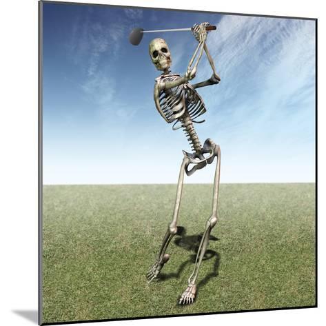 Skeleton Golfing-Carol & Mike Werner-Mounted Photographic Print