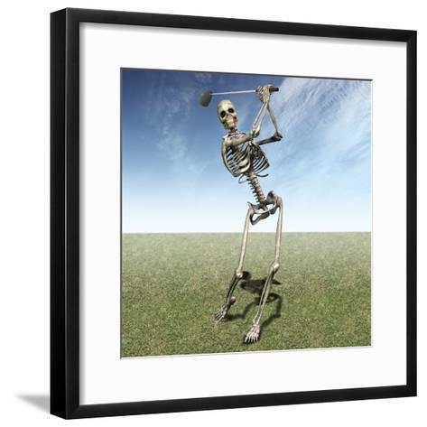 Skeleton Golfing-Carol & Mike Werner-Framed Art Print