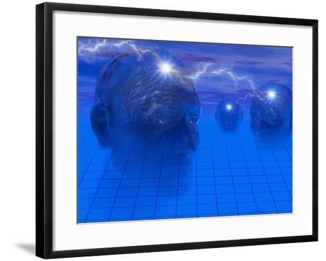 Biomedical Illustration of Mind Games-Carol & Mike Werner-Framed Art Print
