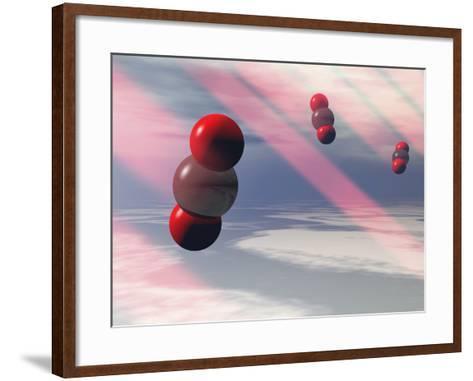 Carbon Dioxide Molecules Absorb Infrared Radiation-Carol & Mike Werner-Framed Art Print