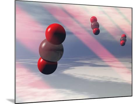 Carbon Dioxide Molecules Absorb Infrared Radiation-Carol & Mike Werner-Mounted Photographic Print