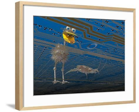 Debugger, Computer Software Got Bugs? This Little Guy Is Just What You Need-Carol & Mike Werner-Framed Art Print
