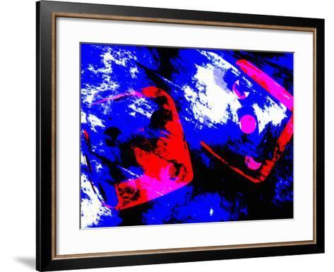 Abstract Dice Rolling Seven-Carol & Mike Werner-Framed Art Print