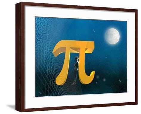 Boy Likeness with Pi Symbol-Carol & Mike Werner-Framed Art Print