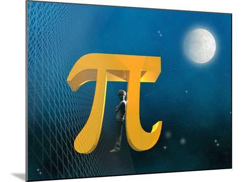 Boy Likeness with Pi Symbol-Carol & Mike Werner-Mounted Photographic Print