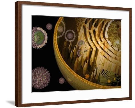 Illustration of Replication of Flavivirus in Host Cell-Carol & Mike Werner-Framed Art Print