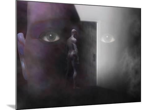 Biomedical Illustration of Self Discovery, Showing a Door Opening Within the Mind-Carol & Mike Werner-Mounted Photographic Print
