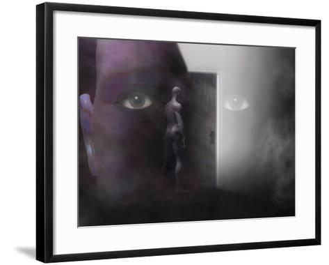 Biomedical Illustration of Self Discovery, Showing a Door Opening Within the Mind-Carol & Mike Werner-Framed Art Print