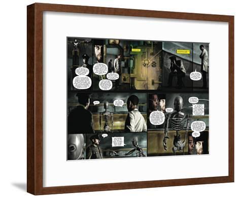Zombies vs. Robots - Comic Page with Panels-Menton Matthews III-Framed Art Print