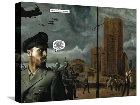 Zombies vs. Robots - Full-Page Art-Menton Matthews III-Stretched Canvas Print