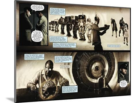 Zombies vs. Robots - Comic Page with Panels-Menton Matthews III-Mounted Art Print