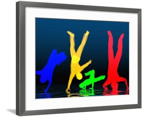 Breakdancers-Carol & Mike Werner-Framed Art Print