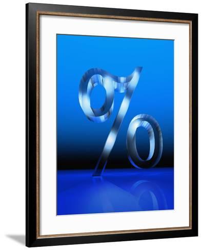 Percent Sign-Carol & Mike Werner-Framed Art Print