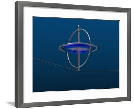 Gyroscope Spinning Along a Wire-Carol & Mike Werner-Framed Art Print