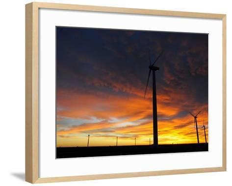 Wind Turbines-Tom Ulrich-Framed Art Print