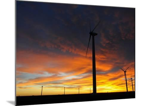 Wind Turbines-Tom Ulrich-Mounted Photographic Print