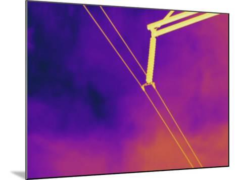 Thermogram - High Voltage Power Line-Scientifica-Mounted Photographic Print