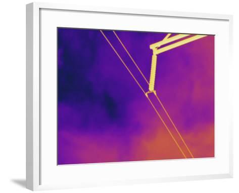Thermogram - High Voltage Power Line-Scientifica-Framed Art Print