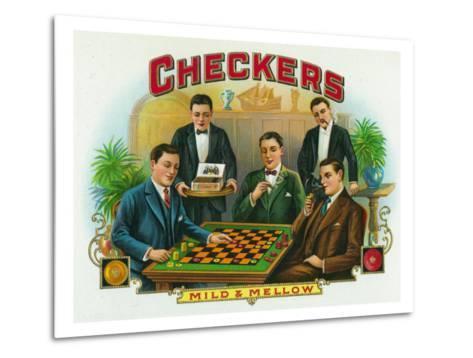 Checkers Brand Cigar Box Label-Lantern Press-Metal Print