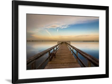 Sunrise on the Pier at Terre Ceia Bay, Florida, USA-Richard Duval-Framed Art Print