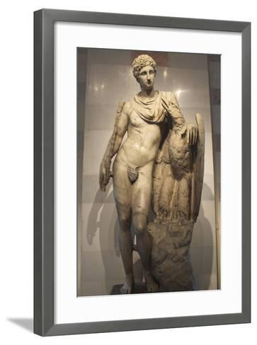 Statue of Ganymede with the Eagle--Framed Art Print