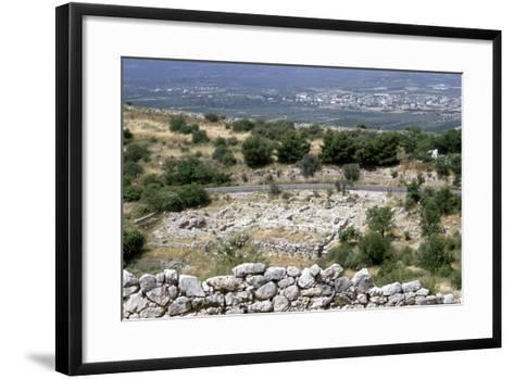 Ruins of the Prehistoric Greek City of Mycenae--Framed Art Print
