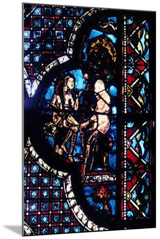 Adam and Eve, Stained Glass, Chartres Cathedral, France, 1205-1215--Mounted Photographic Print