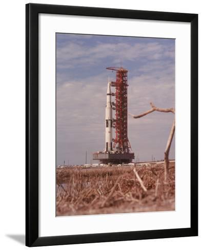 Apollo 9 Saturn V Rocket, 1969--Framed Art Print