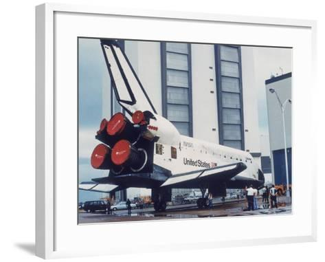 Space Shuttle Columbia on Earth, 1980S--Framed Art Print