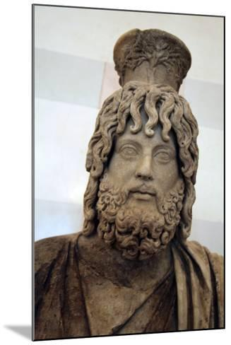 Statue of Serapis, Greco - Egyptian God of the Underworld--Mounted Photographic Print
