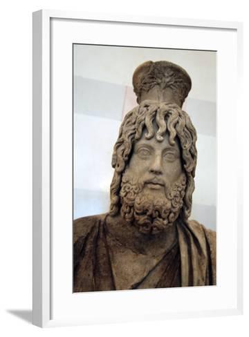 Statue of Serapis, Greco - Egyptian God of the Underworld--Framed Art Print